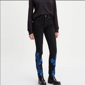 NWT Levi's Embroidered 501 Skinny Women's Jeans